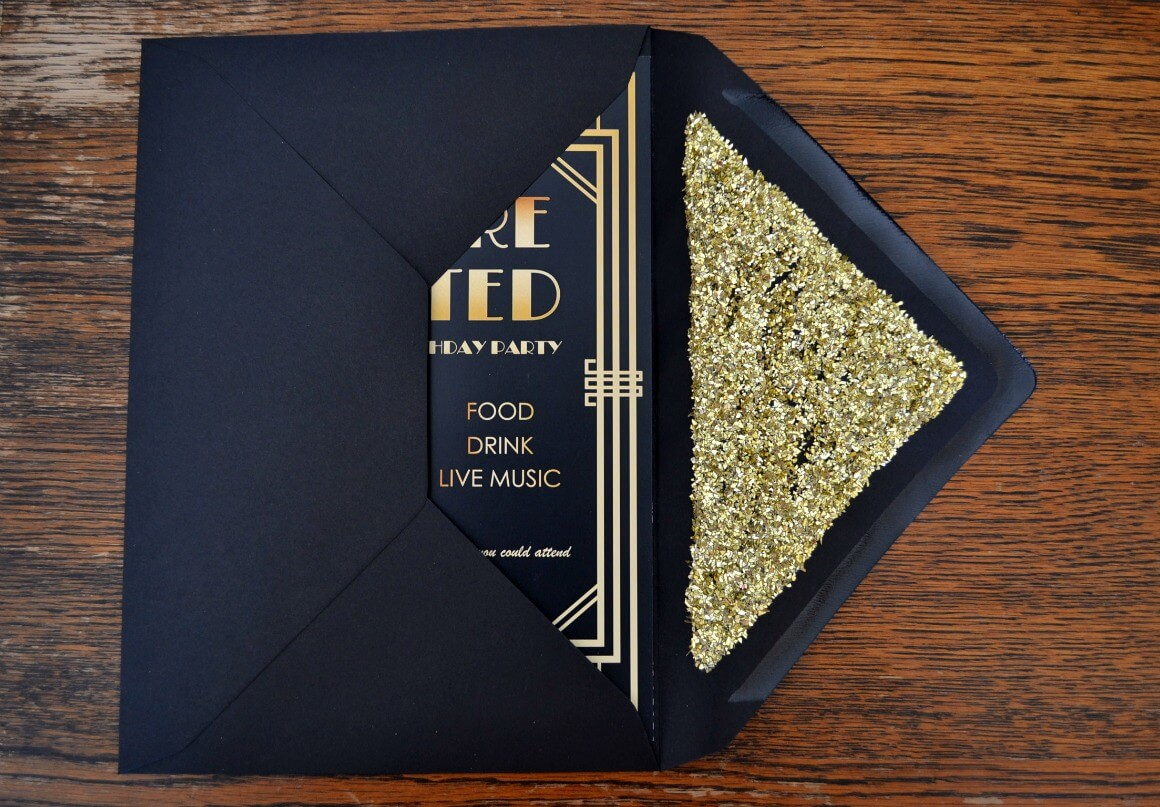 It's just an image of Exhilarating Gatsby Party Invitations