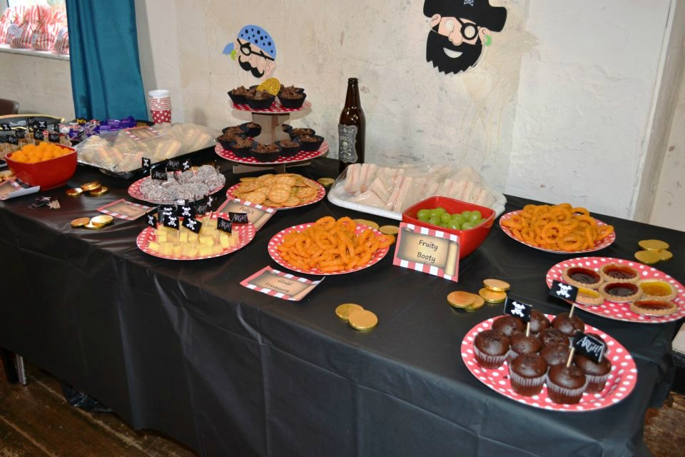 Thrifty pirate party food