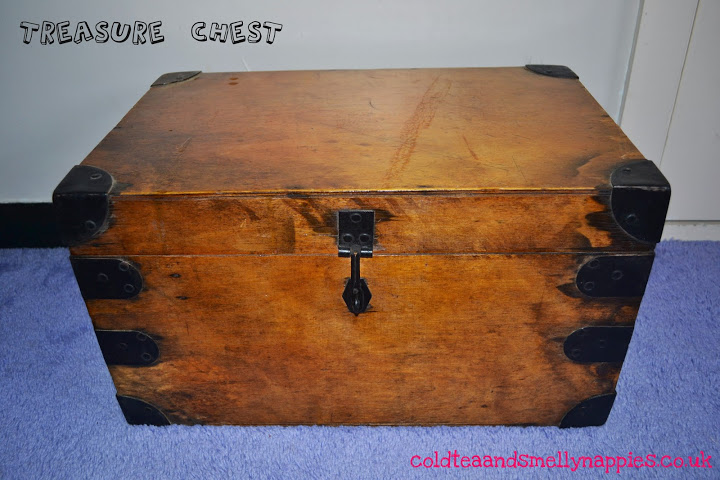 Homemade pirate treasure chest