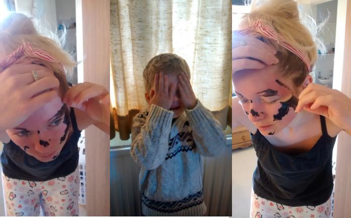 face mask girly night