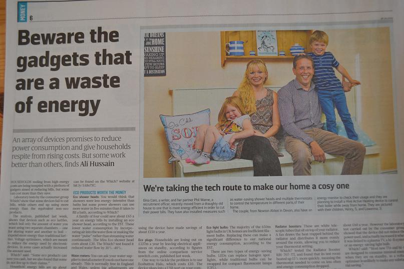 Energy Saving Sunday Times