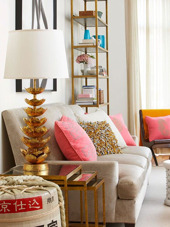 Gold Coral Cream Living Room Home Decor Ideas Gypsy Soul