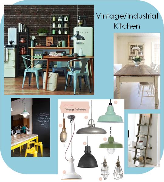 vintage & industrial kitchen