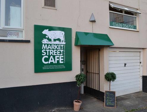 market street cafe in Newton Abbot, Devon