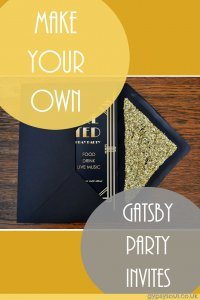 Make your own Gatsby party invites