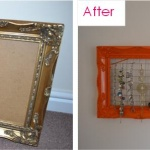 Upcycling Old Picture Frames into Jewellery Holders