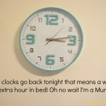 Clocks Going Back and Young Children