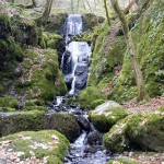 Canonteign Falls on Dartmoor Devon