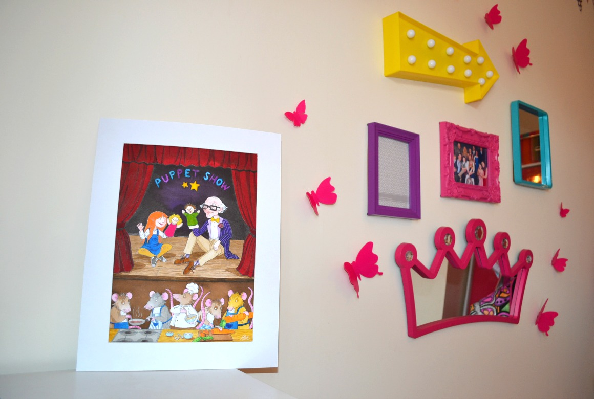Colourful Girls Bedroom - Gallery Wall
