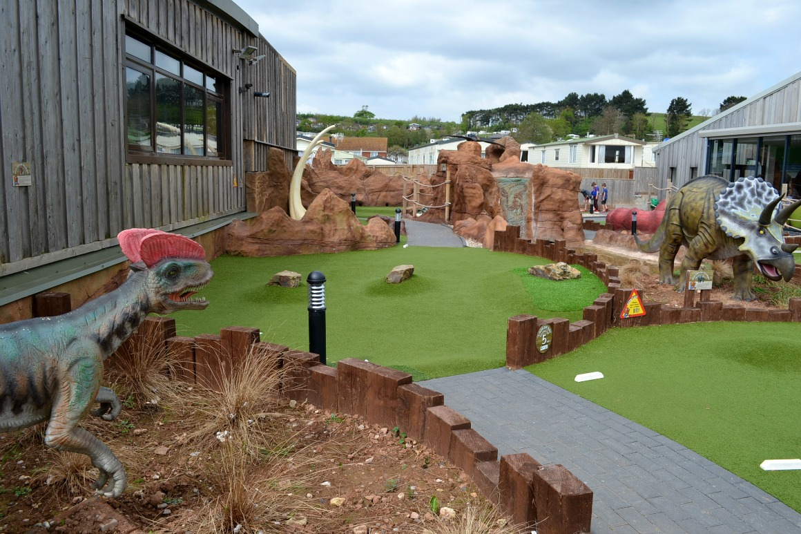 The crazy golf at Ladram Bay Holiday Park in Devon
