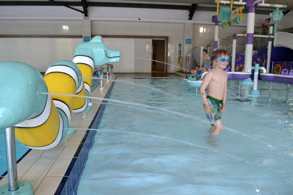 The swimming pool at Ladram Bay Holiday Park