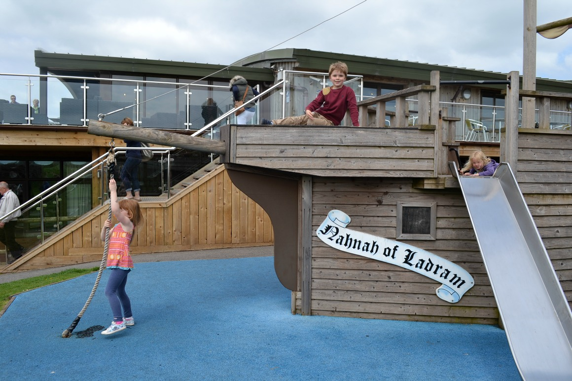 The play area at Ladram Bay