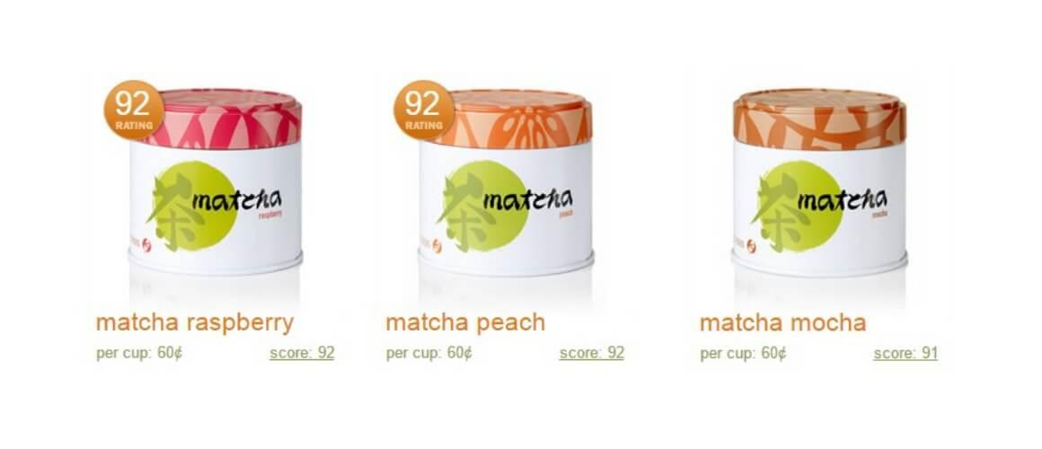 Flavoured matcha teas by Adagio Teas