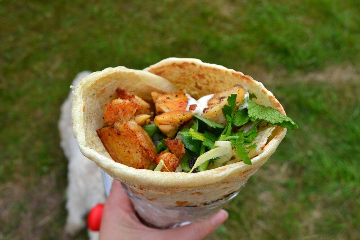 Chicken wrap - World food at Love Summer Festival