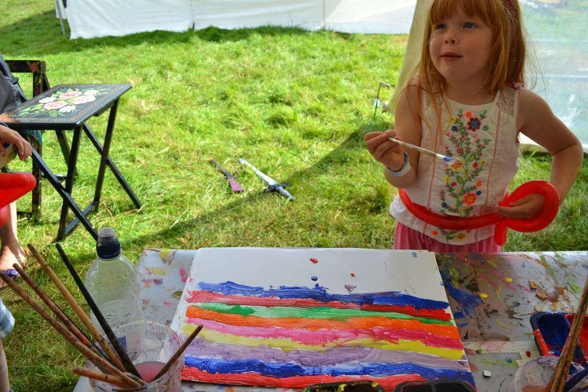 Crafting at the Love Summer Festival in Plymouth