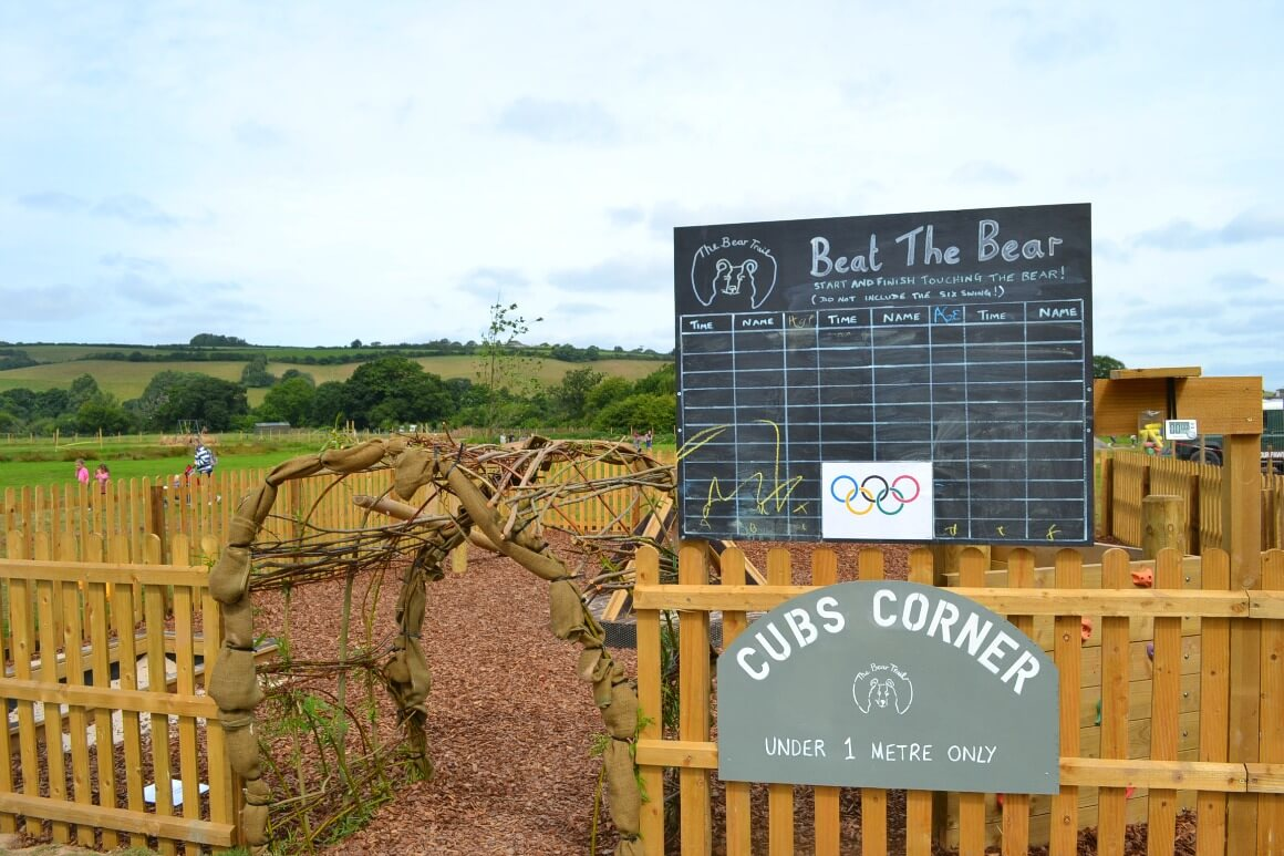 Cubd corner play area at the Bear Trail Devon