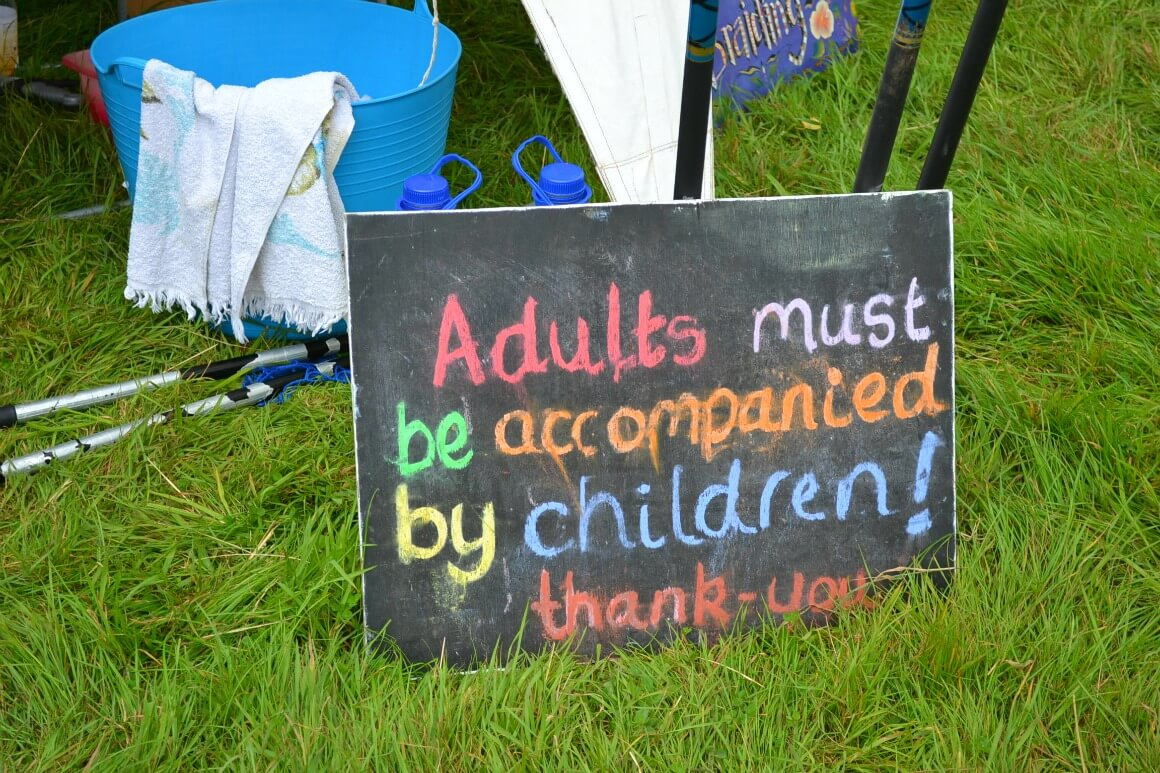 adults must be accompanied by children