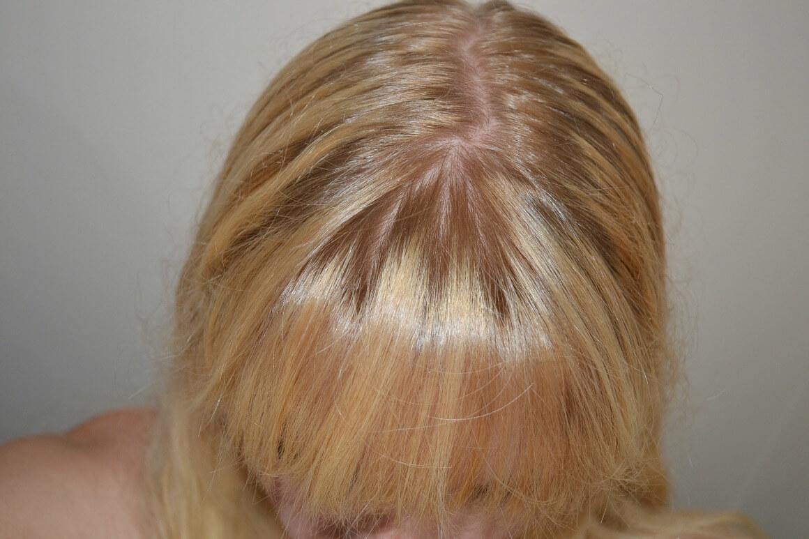 After natural hair dye