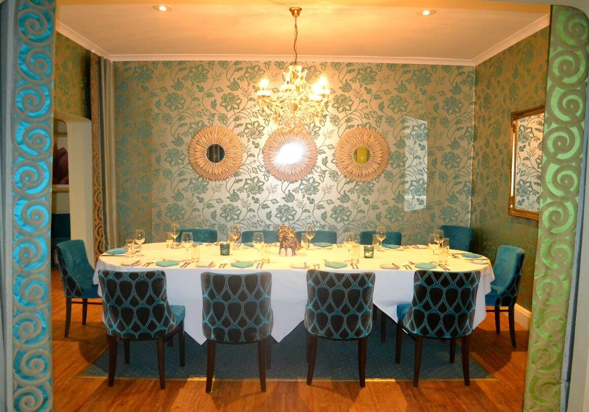 The restaurant at the Moorland Garden Hotel in Devon