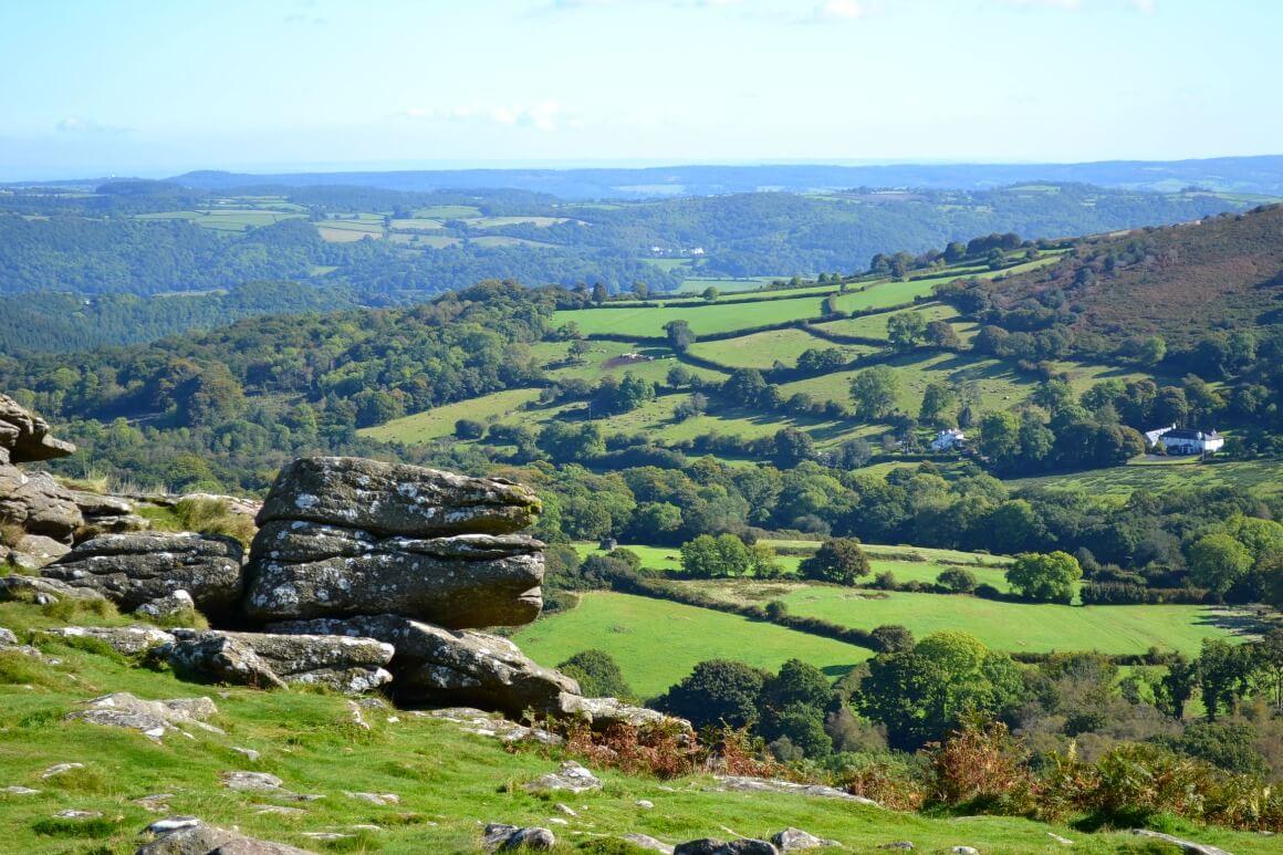 The view over Dartmoor