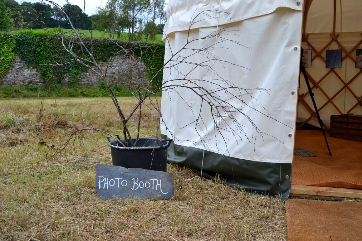 photo booth yurt wedding