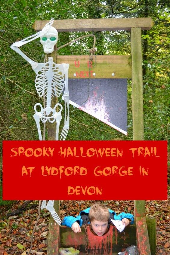 Spooky Halloween Trail at Lydford Gorge in Devon