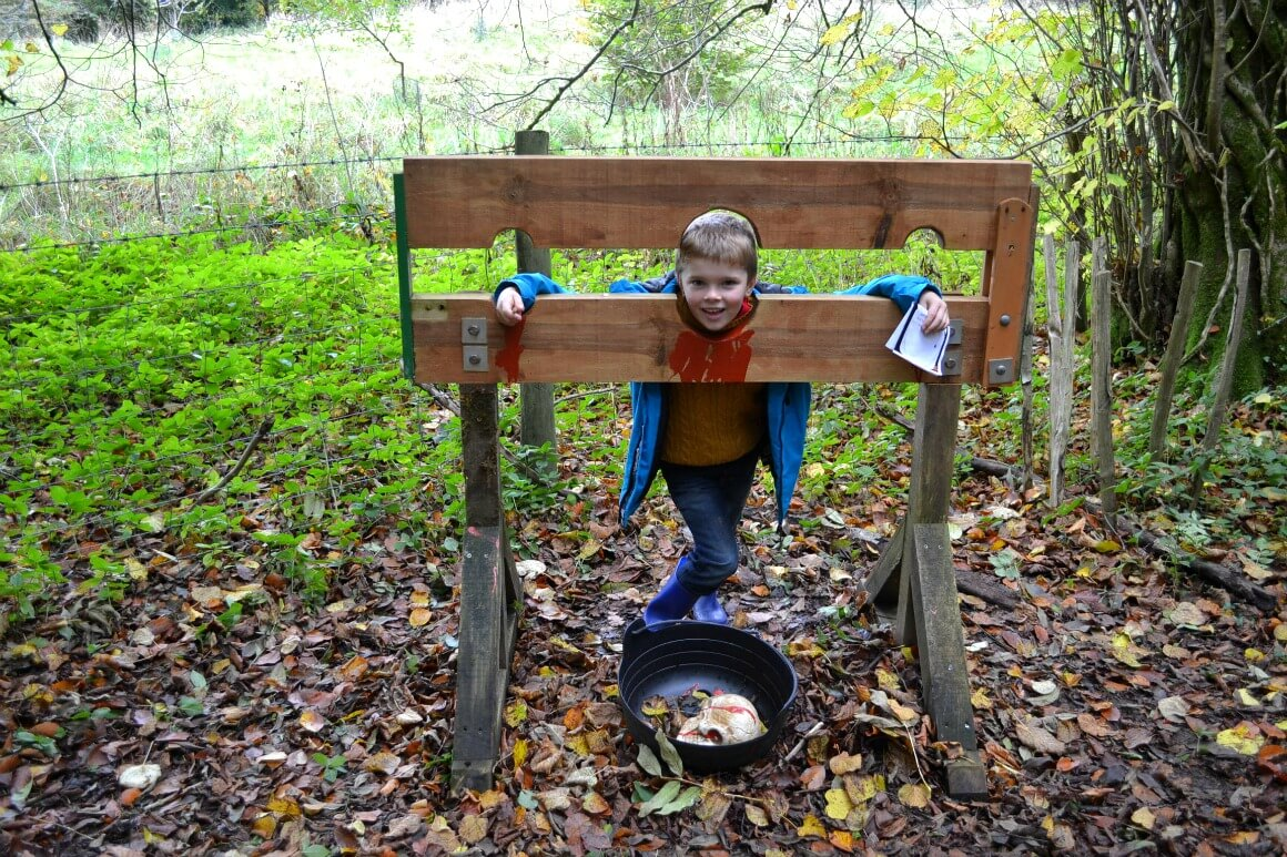 Spooky halloween trail at Lydford Gorge