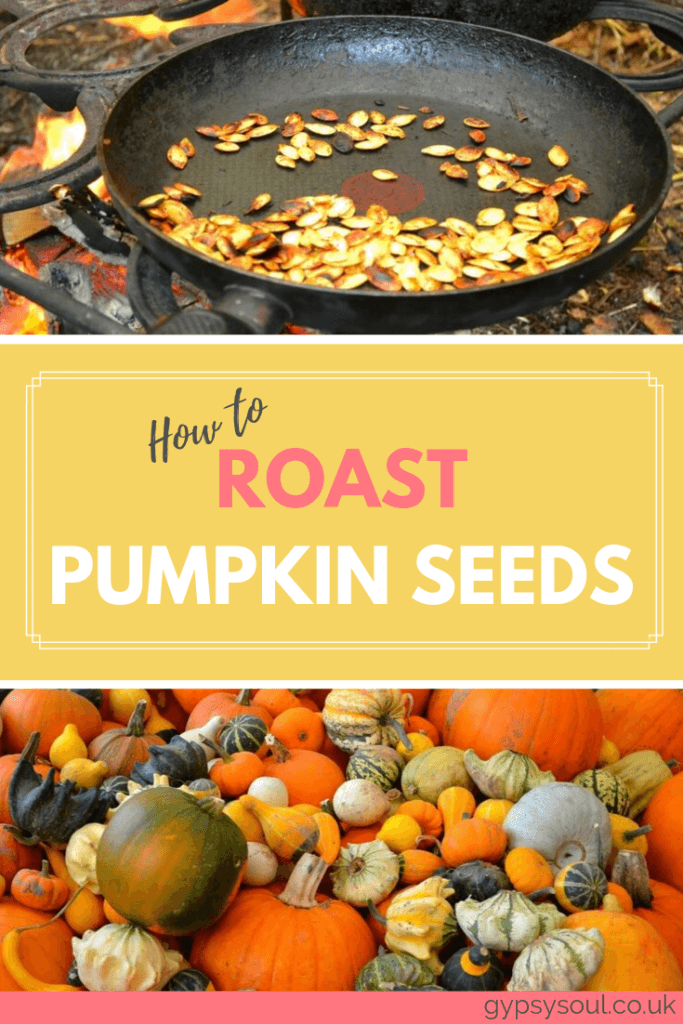 How to raost pumpkin seeds. Click the image to get the recipe