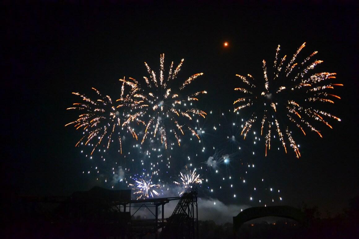 Crealy fireworks in Devon
