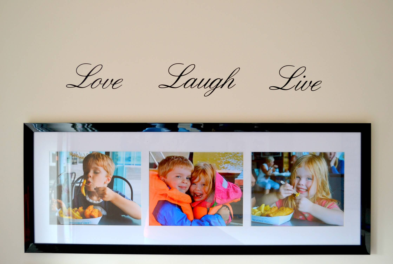 Love laugh live wall sticker
