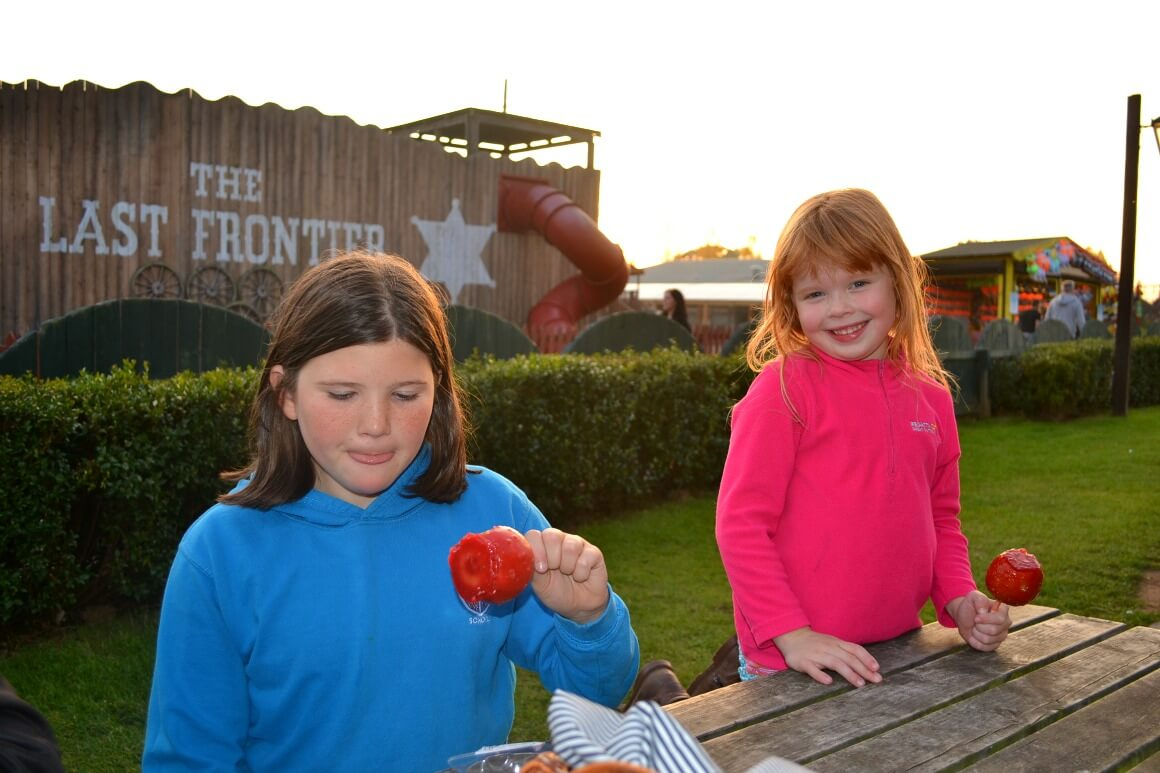 Toffee apples at Devons Crealy