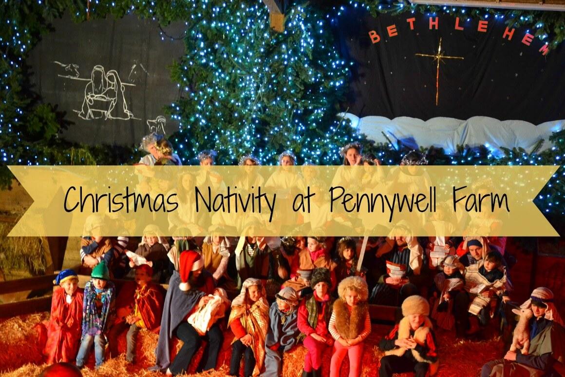 The Christmas nativity at Pennywell Farm in Devon