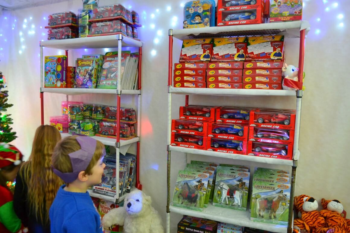 Father Christmas grotto at Jack's Patch