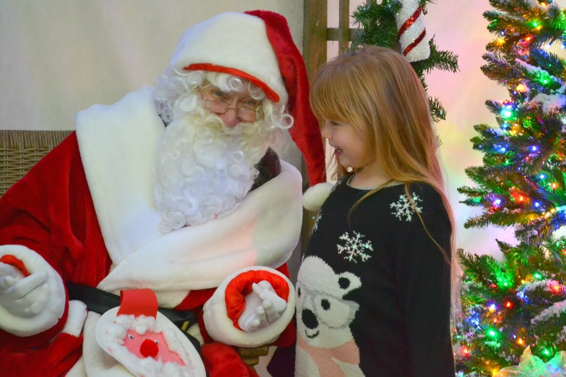 Tea with Father Christmas at Jack's Patch garden centre