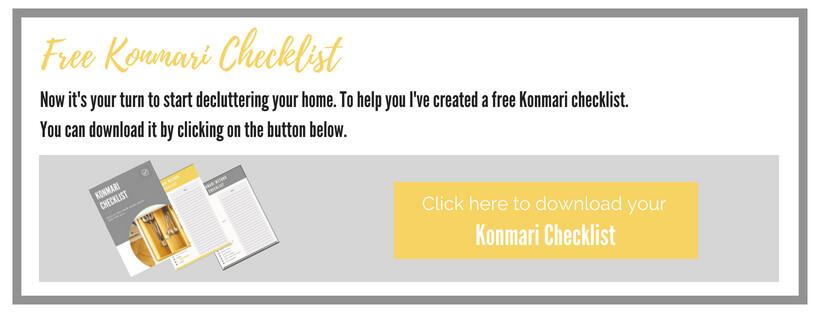 free konmari checklist