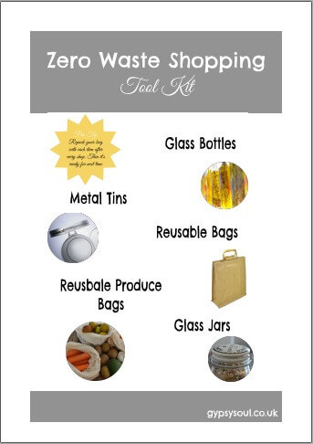 Zero waste shopping tool kit