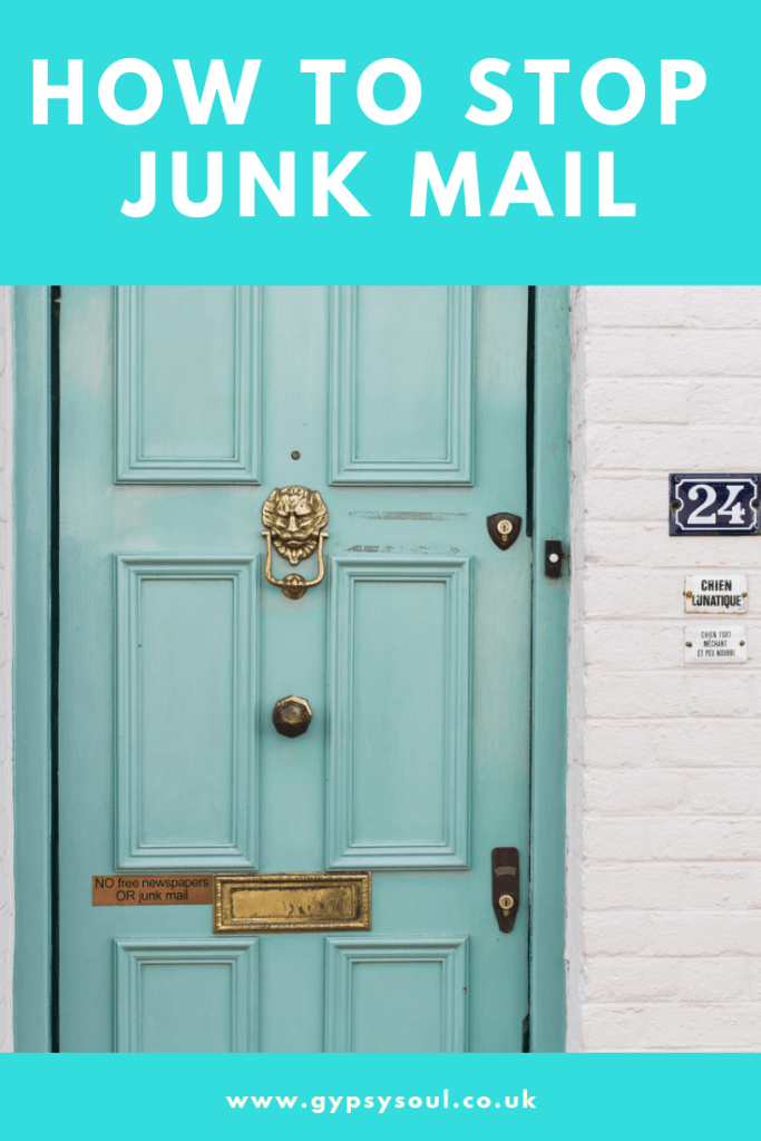 How to stop junk mail in the UK #zerowaste #reducewaste #zerowastelifestyle