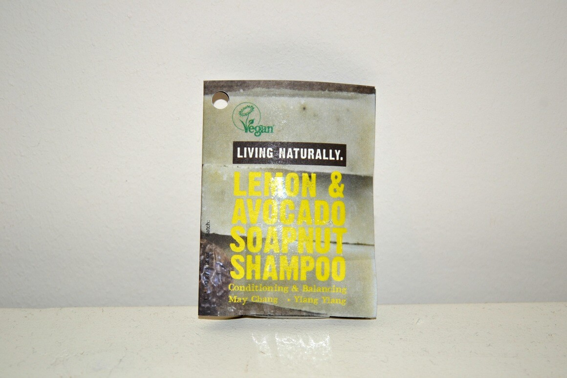 Lemon and avocado soapnut shampoo bar
