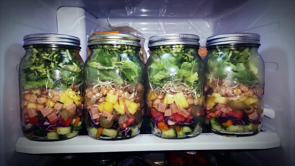 Glass jars for food storage