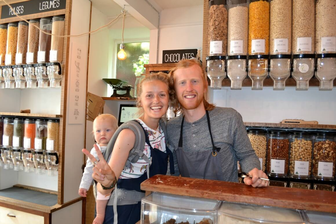 Zero waste shop in Totnes Devon