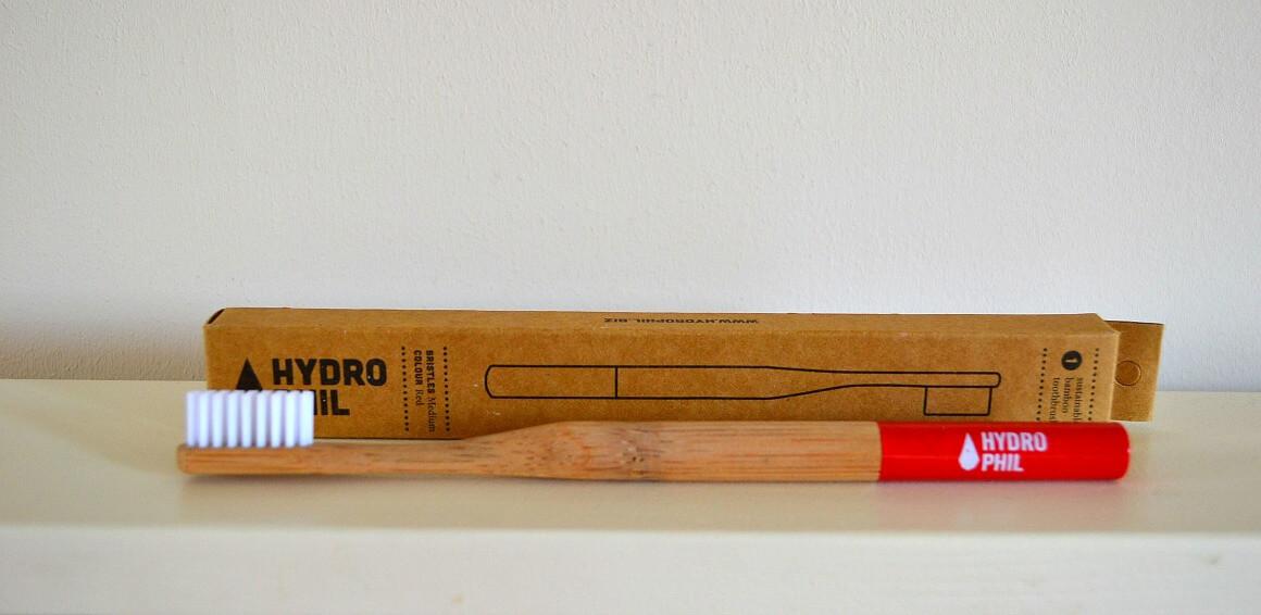 Hydro Phil bamboo toothbrush