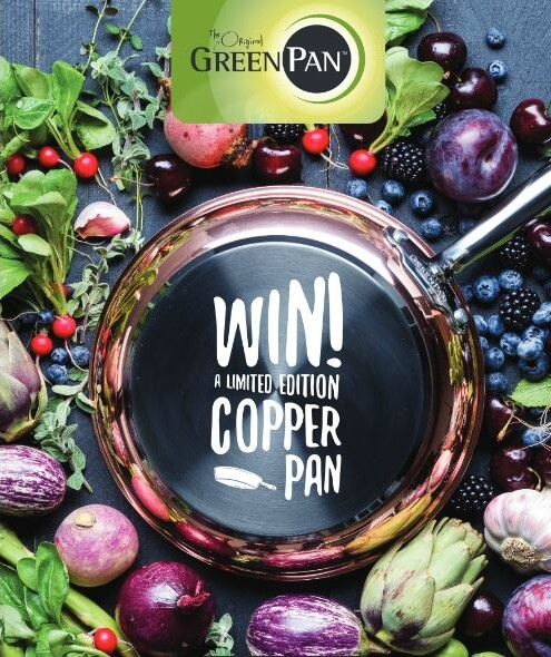 Win a copper pan with GreenPan