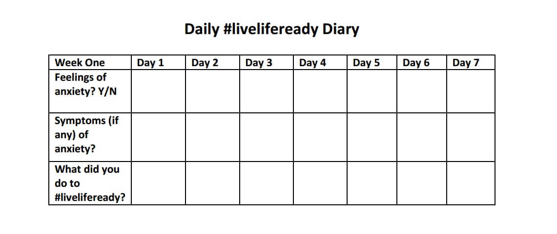 #LiveLifeReady diary