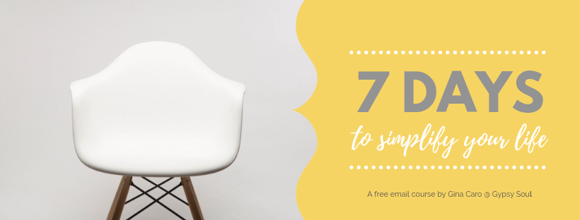 7 Days To Simplify Your Life free ecourse