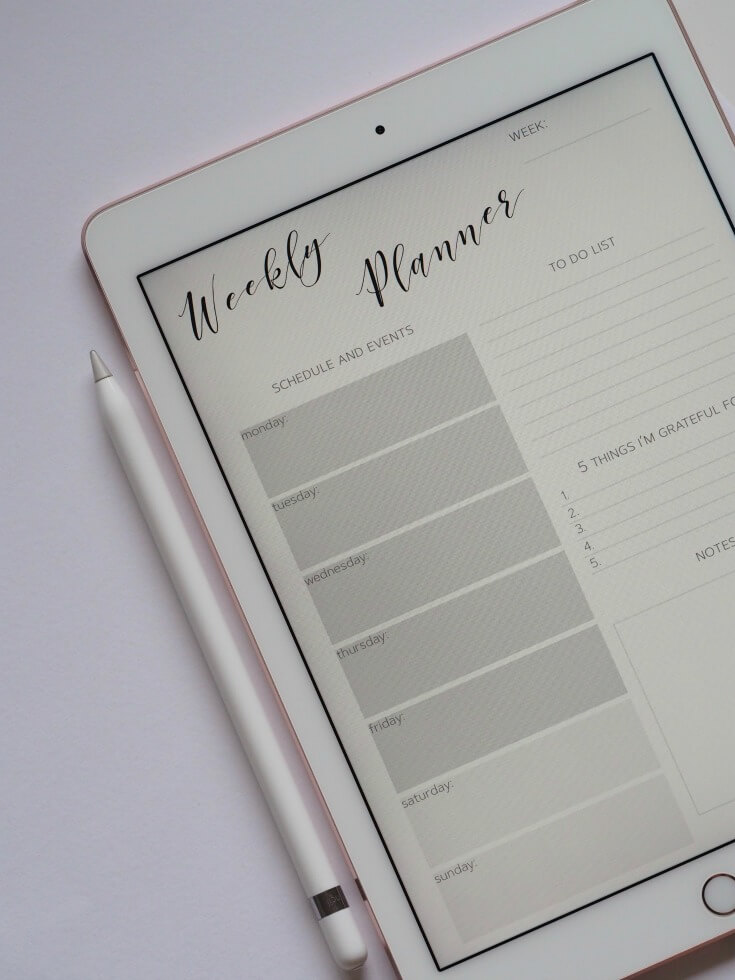 weekly planner get organised