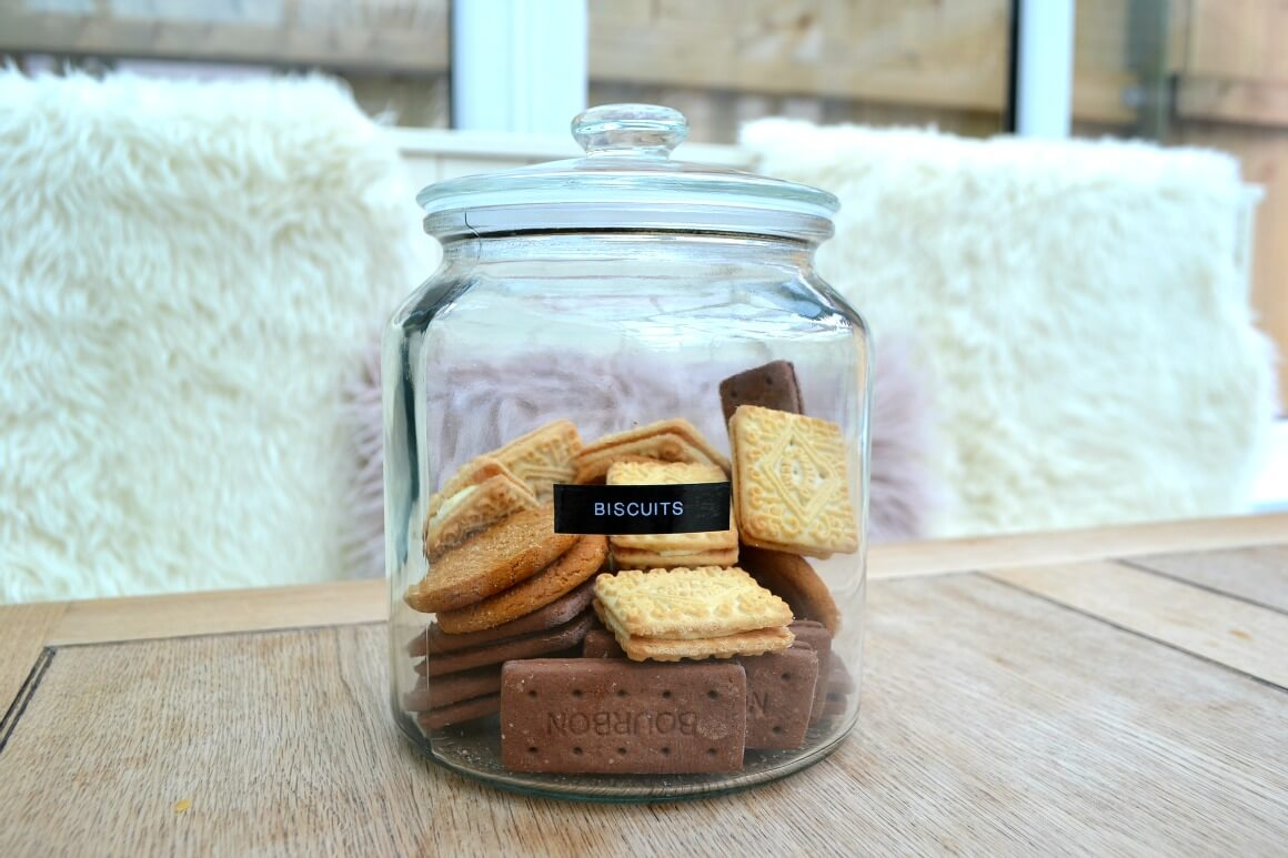 biscuits in a glass jar