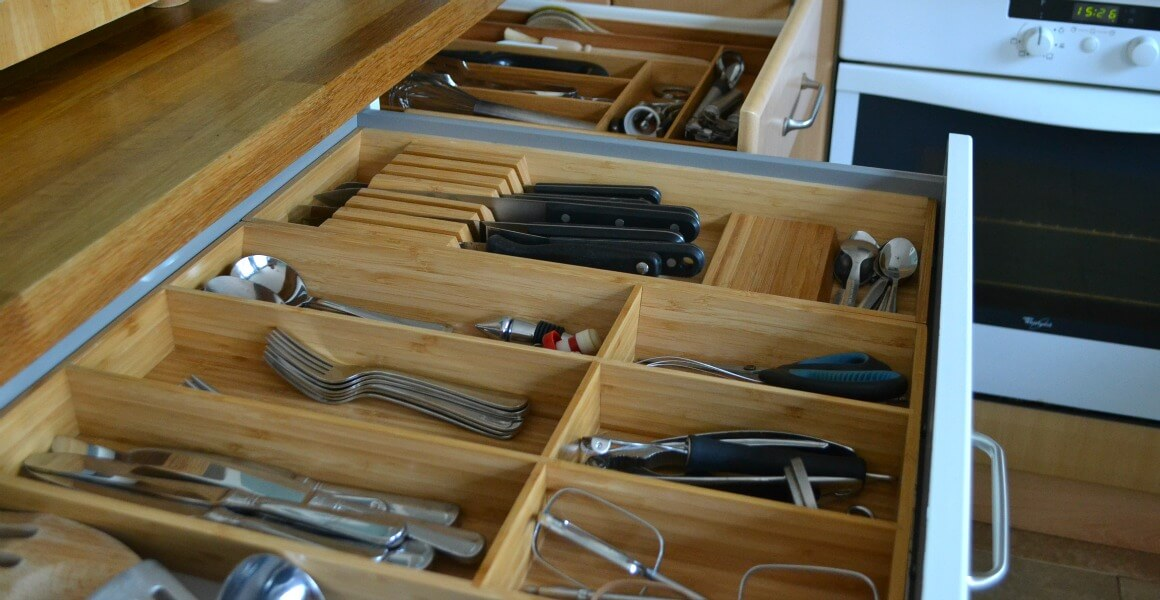 cutlery draw home organisation