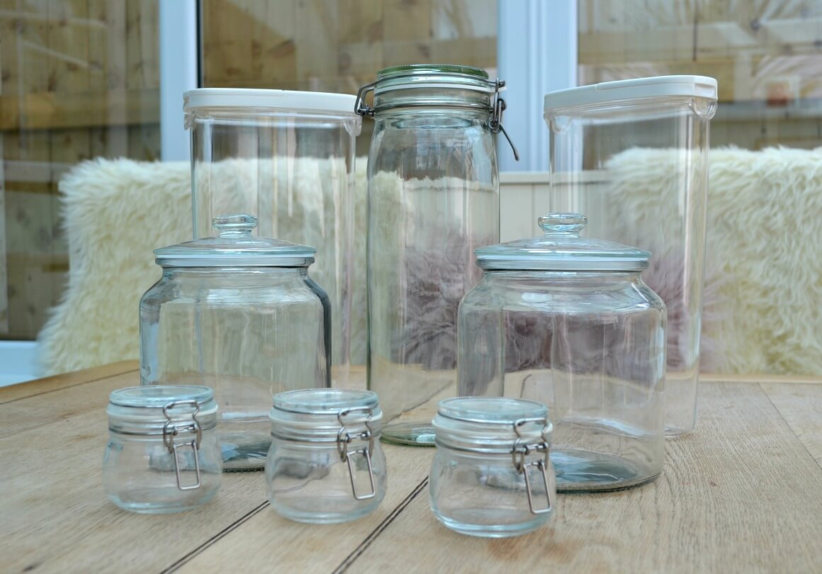 Glass jar food storage IKEA