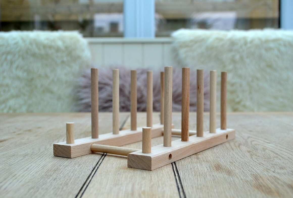 wooden plate rack IKEA