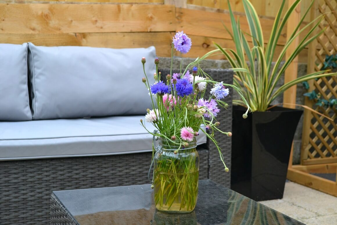 grey rattan garden furniture - garden makeover